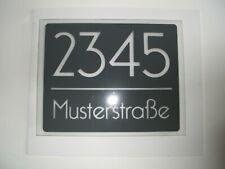 Hausnummer-Schild  250 x 200 x 4 mm Acryl satiniert