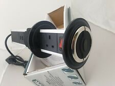 POP UP POWER SOCKET TOWER 3 PIN with USB VW T5 T6 camper vans and in BOATS IP54