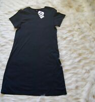 Land's End The T-Shirt Dress Black M 10-12 Petite 100% Supima Cotton Soft