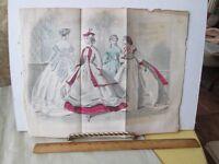 Vintage Print,LES MODES PARISIENNES,Color,Fashion,Folding,#2