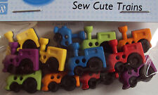 VAT Free Dress It Up Sew Cute Toy Trains 12 Buttons Crafting Cardmaking New