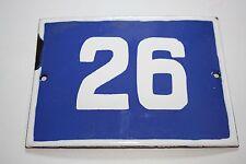 Vintage Enamel number Door House Sign Tin Porcelain 26