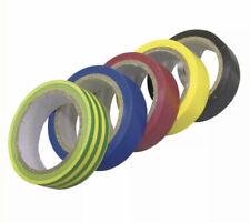 6 rubans scotch adhésifs isolation electrique coloris assortis 10mx15mm