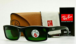 Ray Ban POLARIZED Sunglasses RB4151 601/2P Glossy Black W/ Classic Grey-Green