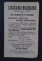 Buvard L'élégance masculine Blanchissage LE PUY Au petit Louvre blotter Löscher