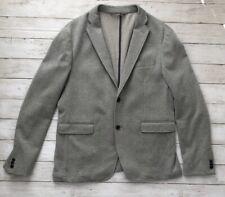 ZARA Man Sz 42 Woven Sport Jacket Blazer Couture Pocket Military Style Gray
