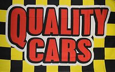 Quality Cars Flag Banner Sign 3' x 5' Foot Polyester Grommets Checkered