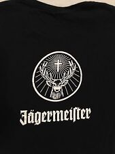 JAGERMEISTER logo Black T-Shirt Women's Sz. S