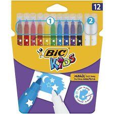 BIC Kids Magic Felt Pens - Assorted Colours, Wallet of 12