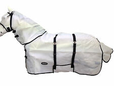 AXIOM WHITE BELLY STRONG HORSE FLYSHEET COMBO RUG - 5' 6 (PLUS FREE FLYMASK)