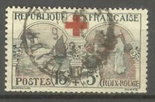 "FRANCE STAMP TIMBRE N° 156 "" CROIX ROUGE, INFIRMIERE 15c + 5c "" OBLITERE TB"