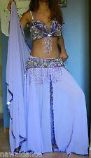 VESTITO DANZA DEL VENTRE BELLY DANCE lilla danza orientale costume egiziano