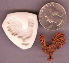 Rooster Handmade Polymer Clay Push Mold Nice!