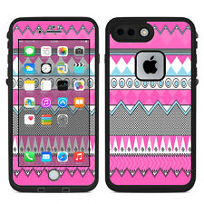 Skin Decal for Lifeproof iPhone 7 Plus Fre Case / Pink Aztec Tribal Chevron