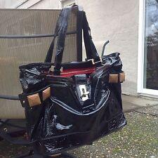 """Chloe """"Audra"""" Patent Leather Handbag Black Tote Bag Original retail $1980"""