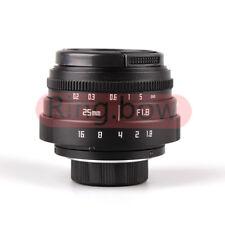 Mini 25mm F1.8 APS-C Televisions TV Lens/CCTV Lens For 16mm C Mount Camera