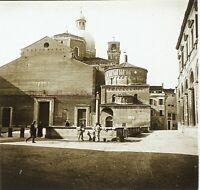 Italia Cattedrale Ville A Identificare Ca 1910 Foto Stereo Placca Da Lente VR11z
