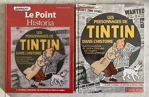 LES PERSONNAGES DE TINTIN DANS L'HISTOIRE: EO TL+EO+DÉDICACE DE L'AUTEUR (HERGÉ)