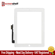 Apple iPad 4 Touch Glass Screen Digitizer Assembly Home Button Replacement White