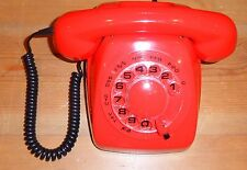Vintage telephone, working and testet, hand set Kirk 73D - Red - Danish.