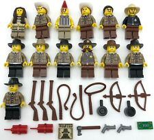 LEGO 13 NEW COWBOY AND NATIVE AMERICAN INDIAN MINIFIGURES WESTERN MEN WEAPONS