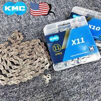 "KMC 6/7/8/9/10/11Speed Chain 1/2X3/32"" 11/128"" MTB Road BMX Bike Cassette Chains"