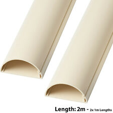 2x 1m (2m) – 50mm x 25mm MAGNOLIA Scart/Cavo Dati coperchio della canalizzazione/Tubo Protettivo-AV