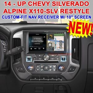 "ALPINE RESTYLE X110-SLV DVD STEREO 10"" SCREEN FOR SELECT 14 - UP CHEVY SILVERADO"