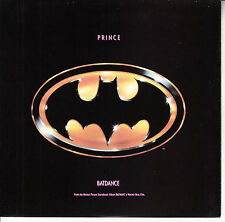 "PRINCE  Batdance BATMAN PICTURE SLEEVE 7"" 45 rpm record + juke box title strip"