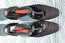 Van Eli East Black T-Strap LowHeel Shoes Size 10 M w/defect