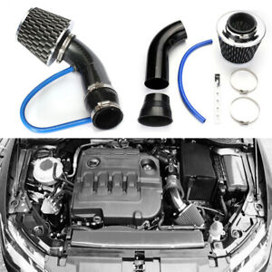 Carbon Fibre Car Cold Air Intake Filter Pipe Induction Power Flow Hose System