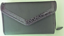 Clutch purse/wallet 4-3/4 X 7/-1/4 X 1 empty meaurements No markings see descrip
