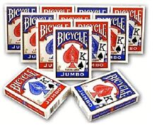 12 DECKS BICYCLE PLAYING POKER CARDS JUMBO FACE