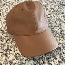 NWT Faux Leather Cognac Camel Baseball Hat Madewell Style