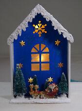 Weihnachtshaus, Dekoration, LED- Holzhaus, Weihnachten, Tannen