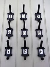 Coat hook black numbered peg hat coat iron traditional vintage hall