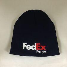 FedEx Freight Beanie Hat Decky Navy Custom Embroidery Short Knit