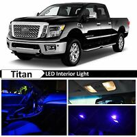 19x Blue Interior LED Lights Package Kit 2004-2016 Titan Truck