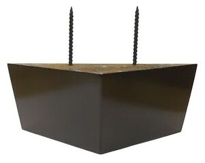 """2 1/2"""" Dark Walnut Tapered Triangle Sofa/Chair/Ottoman Wood Legs - Set of 4"""