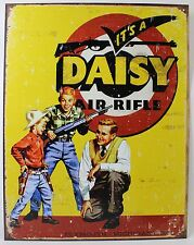 IT'S A DAISY AIR RIFLE METAL SIGN Hunting Shooting Ad NEW Vintage Repro USA Tin
