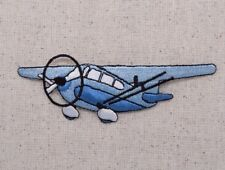 Blue Prop Plane/Cessna Style/Airplane - Iron on Applique/Embroidered Patch