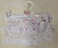 Ladies Bra & Laced Boxer Nylon Underwear Set Sexy Knickers New 34B 36B 34C 38B