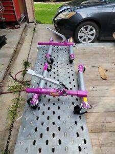 "GoJak pump Wheel dollies, model 6313 large casters, 13"" tire, L&R side like new"