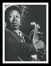 More details for framed & mounted b.b. king blues music singer original promo poster print a4