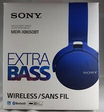 GENUINE Sony MDR-XB650BT Bluetooth Extra Bass Headphone - BLUE RRP£79.99