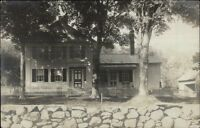 Home & Rock Wall - Publ in Winsted CT c1910 Real Photo Postcard