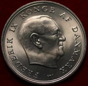 Uncirculated 1967 Denmark 10 Kroner Silver Foreign Coin