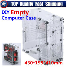 Upgraded Acrylic Personalized DIY Computer Case ATX  Clear PC Case Assembly Kit