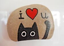 Hand painted rocks, stones, pebbles. Love heart, valentines gift, fridge magnet
