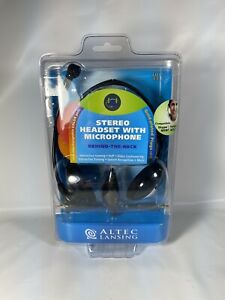 Altec Lansing AHS-433 PC Stereo Headset, Microphone, VoIP, Gaming, Skype New